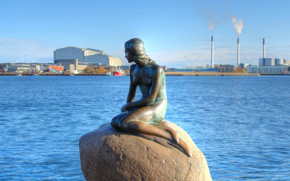 The Little Mermaid Statue in Copenhagen.