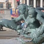 Trafalgar Square Mermaid fountains