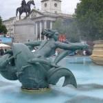 Trafalgar Square Mermaid sculptures and fountains