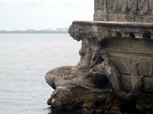 Vizcaya Stone Barge Stern Mermaid