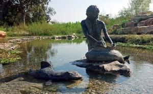 Indian Mermaid Sirena in Salado, Texas.