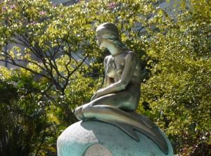 The Little Mermaid - replica at Brazil's Navy HQ