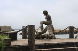 Crescent City Mermaid Statue.