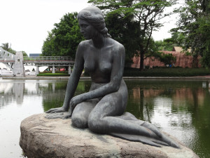 The Little Mermaid statue in Shenzhen, China