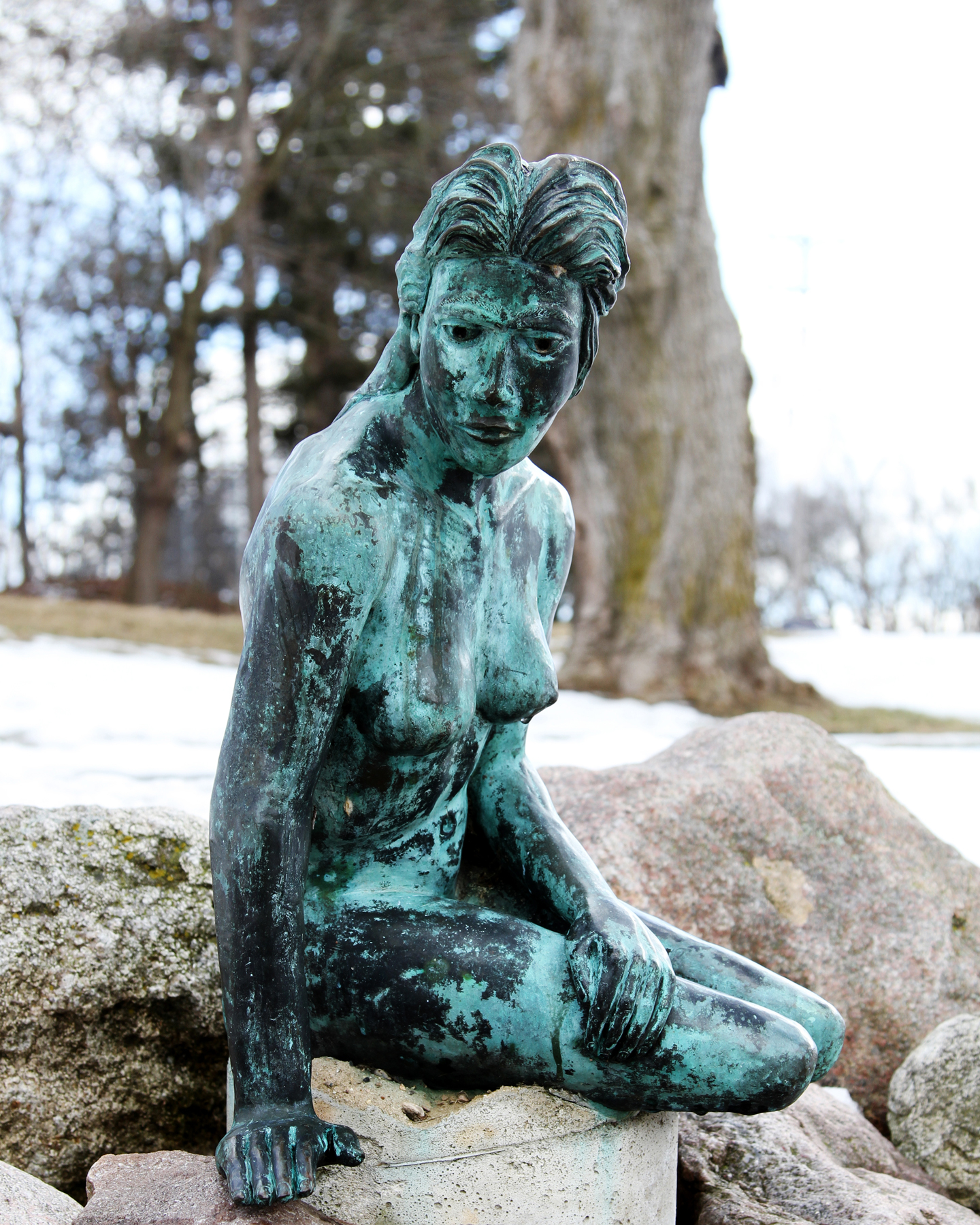 Greenville's Flat River Mermaid.