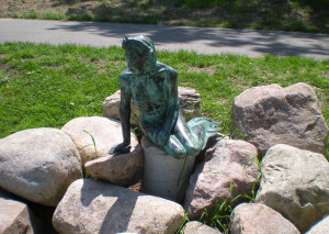 Greenville's Little Mermaid Sculpture