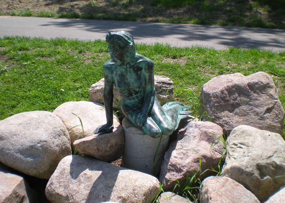 Greenville's Little Mermaid Sculpture