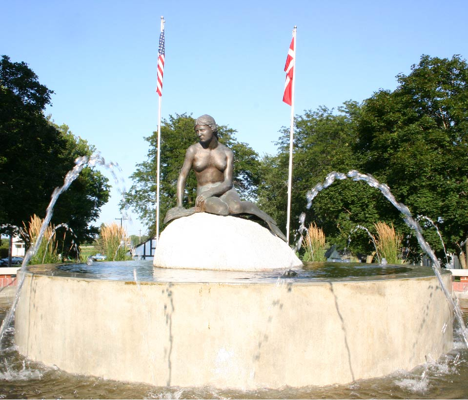 The Little Mermaid statue in Kimballton