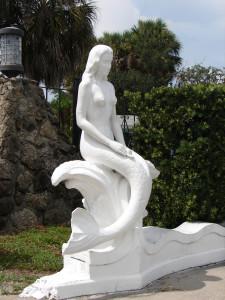 Weeki Wachee Parking Lot Mermaid Sculpture
