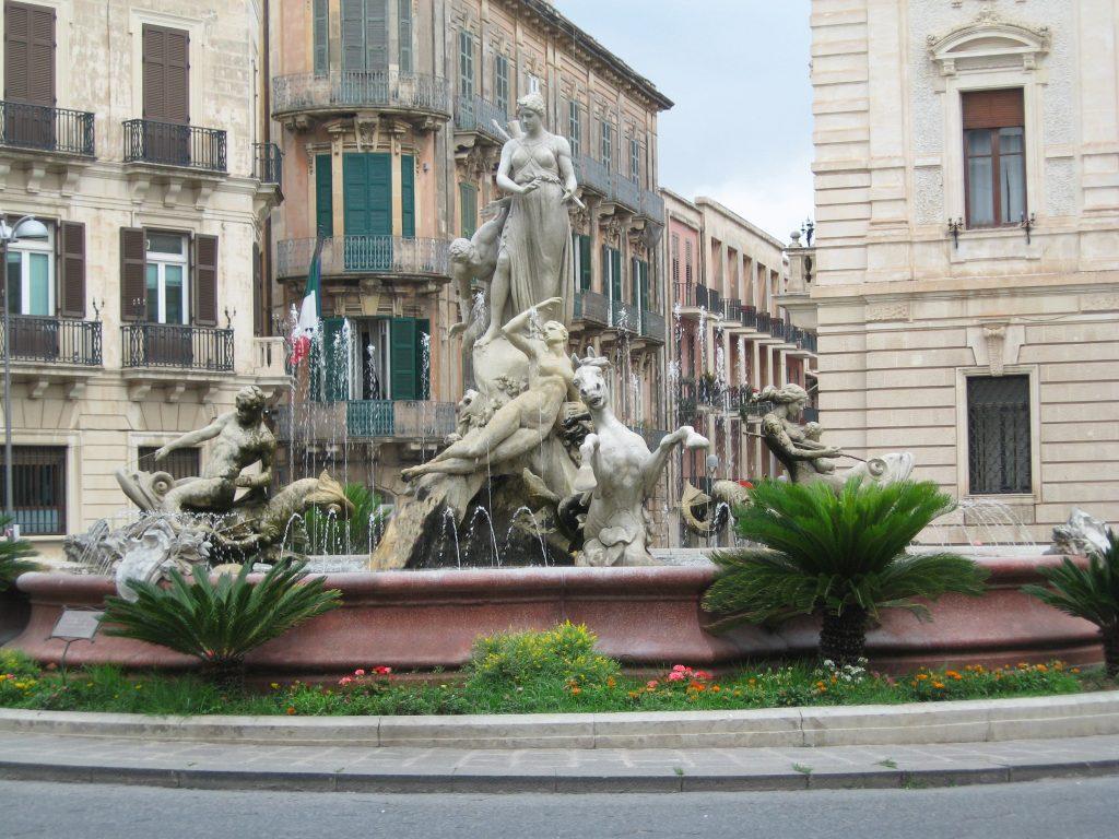 Fontana di Diana in Syracuse, Italy