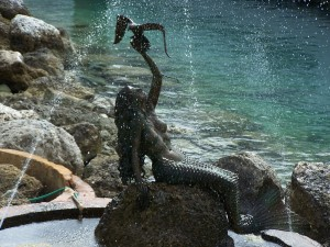 The Mermaid sculpture on Coco Cay
