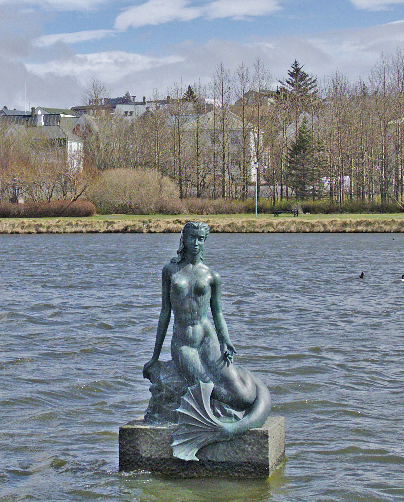 The Hafmeyan (mermaid) in Reykjavik.  Photo by Rich Daley.