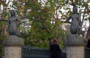 4 mermaid statues on Ponte delle Sirenette