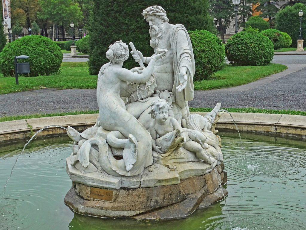 Mermaid and Triton in Maria Theresa Square
